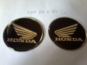 Honda emblem sticker - Pair