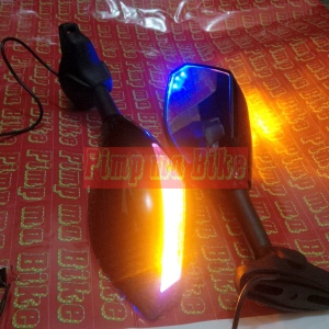 Spion sein double LED black glossy_side_ON