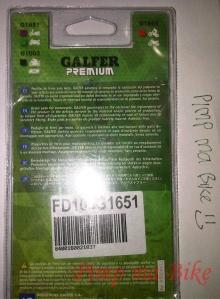 Kampas rem belakang Galfer cbr250 non-abs box belakang