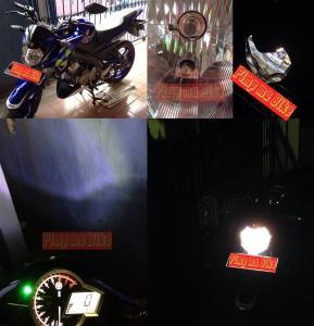 Lampu senja LED T10 superbright terpasang di New Yamaha Vixion NVL 2015. Credit: @bro Aris M. di Cibitung Bekasi