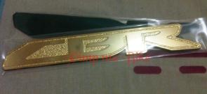 Emblem stainless CBR berwarna gold. PRICE: Rp280.000,- sepasang
