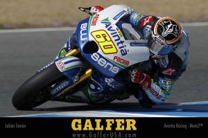 Galfer sponsored Julian-Simon at Jerez Moto2
