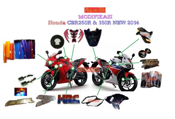 Pilihan modifikasi new CBR150R & 250R + products