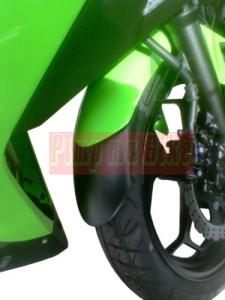 Front Fender extender / Sambungan spakbor depan / mudflap Ninja 250 dan Z250_contoh terpasang di Ninja 250 Fi