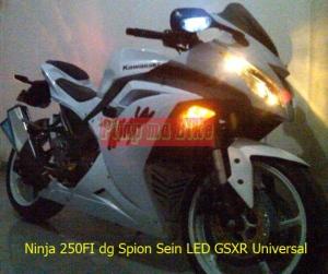 Spion sein LED GSXR Universal di Ninja250Fi