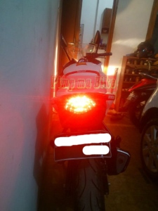 Taillight LED 3in1 CBR150R&250R CBU terpasang di CBR San Carlo