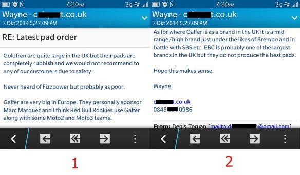 Testimoni merk rem bagus dari distributor besar di UK - NO HOAX screenshot BB sy!