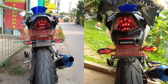 Lampu sein tancap LED integrated universal_perbandingan daytime