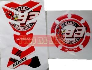 Tankpad set Honda Repsol MM93_red