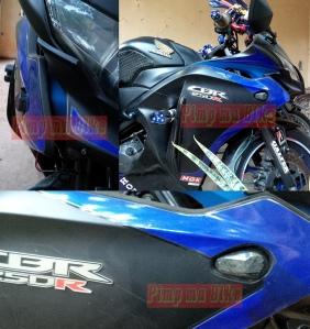 Sein tanam LED black pearl smoked for CBR150&250R CBU Thai. Tampilan garang stylish, tapi tetap safety!