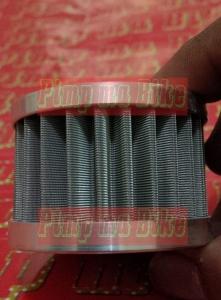 Desain kokoh, tahan panas ekstrem sampai 300 C, sanggup menyaring sampai sekecil 30 mikron (filter oli kertas cuma sanggup sampai sekecil 90 mikron)