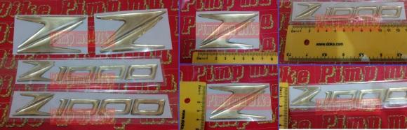 Emblem kuningan 3D coating for Kawasaki Z1000 - Rp350.000 1 set lengkap (tangki&buntut motor)