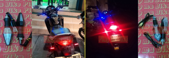 Sein tancap depan (bisa dipakai di belakang jg) mini LED 2in1 dan sein blkg mini LED 3in1. Per pasang NOW ONLY Rp130.000!