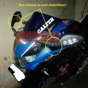 Spion sein LED ala Ducati Monster bisa ditekuk-tekuk gan!