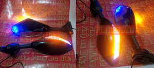 Spion sein double LED black glossy. UNIVERSAL sport fairing&moge - PRICE Rp620.000