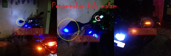 Spion sein double led_Penampakan kala malam