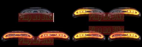 Tail light LED 3in1 CBR600RR 13-15 Europe style - Rp1.600.000,-