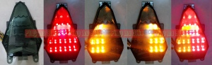 Tail light LED 3in1 smoked for Yamaha R6 2008-2014 - Rp760.000