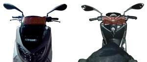 Spion Ducati Monster PNP Universal_terpasang di Nmax depan. Credit: @bro Hasni di Depok