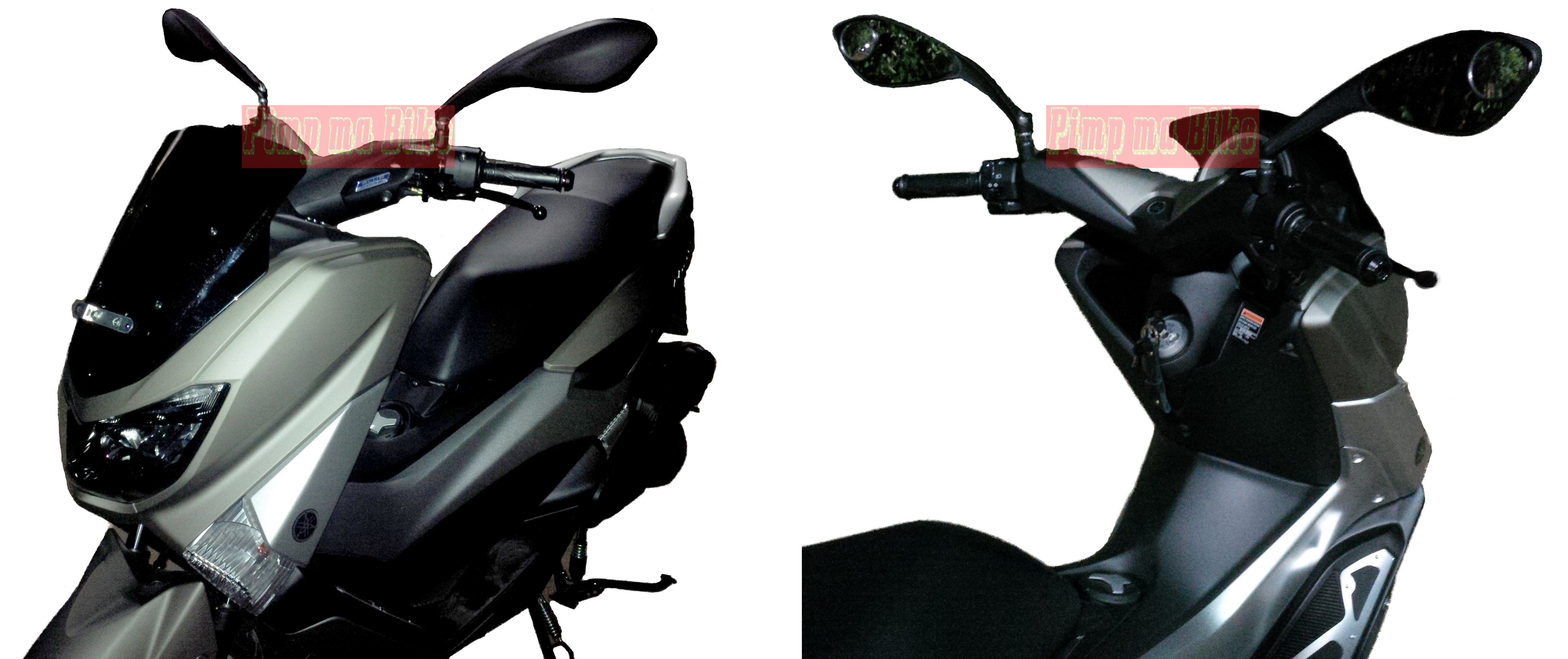 66 Modifikasi Kaca Spion Yamaha Nmax Yamah Mio Aftermarket Ala Ducati Monster Untuk Moge Naked Bike Dan