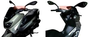 Spion Ducati Monster PNP Universal_terpasang di Yamaha Nmax tampak samping. Credit: @bro Hasni di Depok