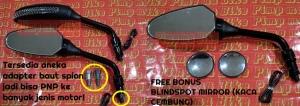 Spion sein LED Benelli PNP Universal_kelengkapan setnya ada berbagai macam adapter baut PNP dan bonus blindspot mirror!