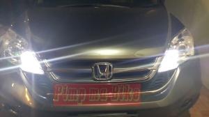 Lampu LED T10 8000K di mobil_tampak jauh