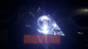 Lampu LED T10 8000K di mobil_zoom. Credit: agan Feldix di Padang