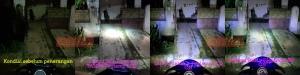 Perbandingan daya sorot pemakaian kedok Hokage CBR dan lampu foglamp LED terhadap objek