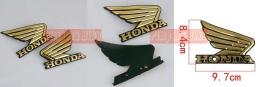 Emblem TANGKI Honda Wing plastik ABS warna gold. PRICE: Rp90.000,- per set (sepasang)