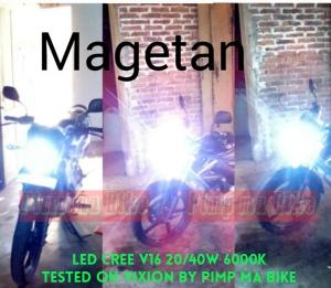 Lampu utama LED CREE 20-40w PNP juga untuk Yamaha Vixion. Keren gan!