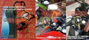 Saklar Non-AHO Special Murmer Pimp Ma Bike. Saklar standar original motor tetap bisa dipertahankan dengan adanya saklar ON/OFF murmer dan praktis ini.