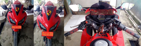 Spion model CBR900RR di CBR K45 merah