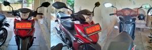 Spion model ZX6R PNP naked bike baut 14 contoh terpasang di motor bebek Honda