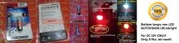Bohlam lampu rem LED AUTOVISION ultrabright 3/8W. PNP Universal untuk motor/mobil yang memiliki soket dudukan lampu rem kaki 2 pipih. PRICE: Rp70.000 per pcs.
