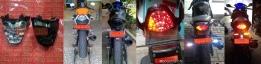 Stoplamp/taillight/rear lamp LED 3in1 untuk CBR150R&250R. PNP di CBR CBU Thai dan lokal, tersedia mika smoked&clear. PRICE: Only Rp690.000,- (kurs 1 USD Rp13.000-an). Garansi 1 tahun.