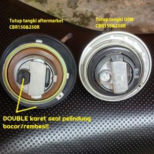 Tutup tangki aftermarket CBR150&250R_kelebihan dibanding OEM-nya