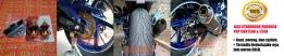 Jalu standhook paddock CBR150R&CBR250R warna GOLD. Dalam 1 set-nya terdiri atas 2 pcs jalu dan 2 pcs breketnya. Rp190.000,- per set.