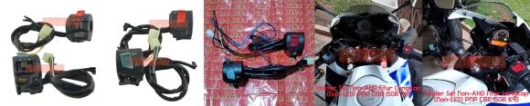 Holder Non-AHO fitur lengkap non LED PNP CBR 150R K45: Lampu OFF&ON, Engine Cut-off, lampu dim (passing beam) dll. PRICE: Rp290.000 sepasang kiri-kanan.