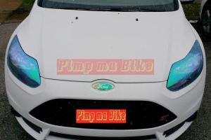 Stiker Vinyl transparan Bunglon biru bikin tampilan mobil jadi makin eksklusif dan stylish!
