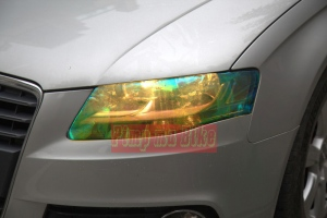Kalau yg ini stiker transparan bunglon warna kuning. Paling optimal untuk menembus hujan dan kabut, tp tetap tampil stylish dan berbeda.