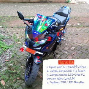 Modifikasi lampu LED di Honda CBR250R 2012 @PMB