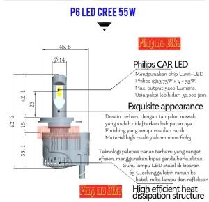 Penjelasan singkat tentang lampu LED H4 30/55W Lumiled P6 by PMB. Beda dan eksklusif dari yg ada di pasaran kan!