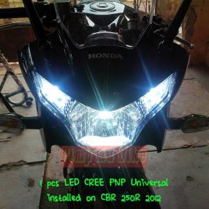LED Cree 20-30w PNP Universal_installed CBR250R tampak depan