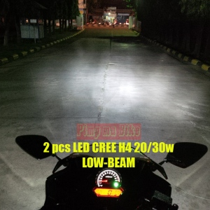 LED Cree Universal 20-30w_installed on CBR K45, LOW-BEAM